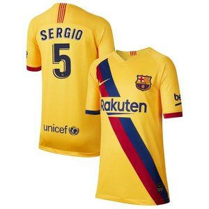Barcelona Sergio Busquets Yellow Jersey